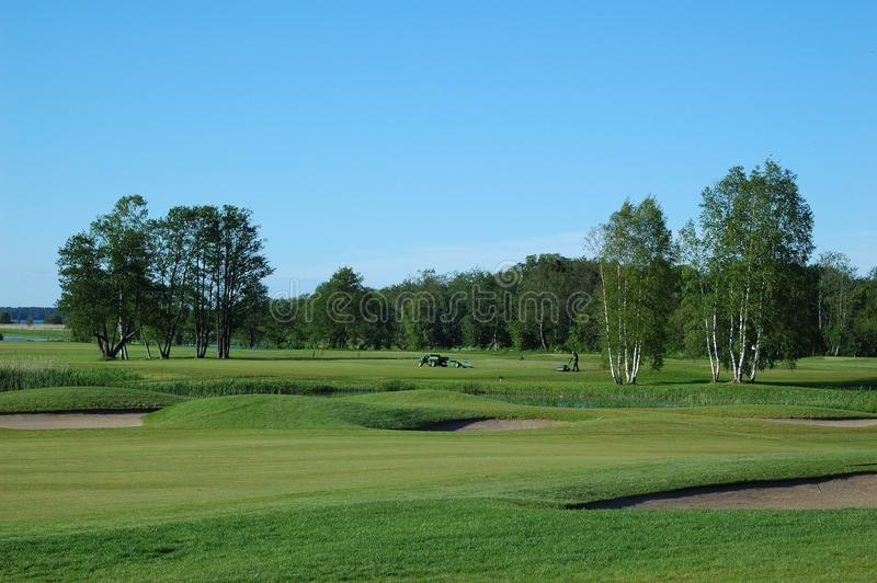 Download Golf field stock image. Image of putt, game, hole, blue - 25207449