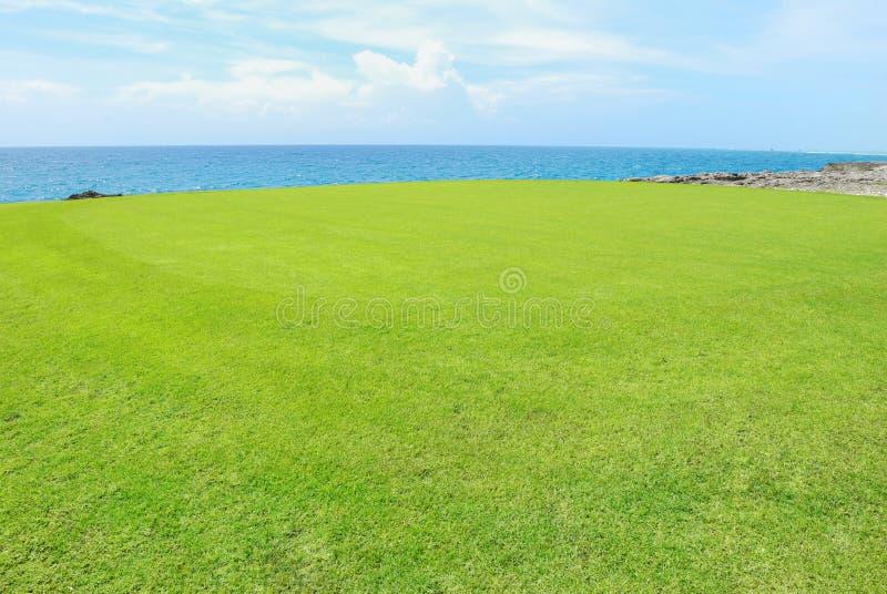 Golf Field On A Shore Stock Photos