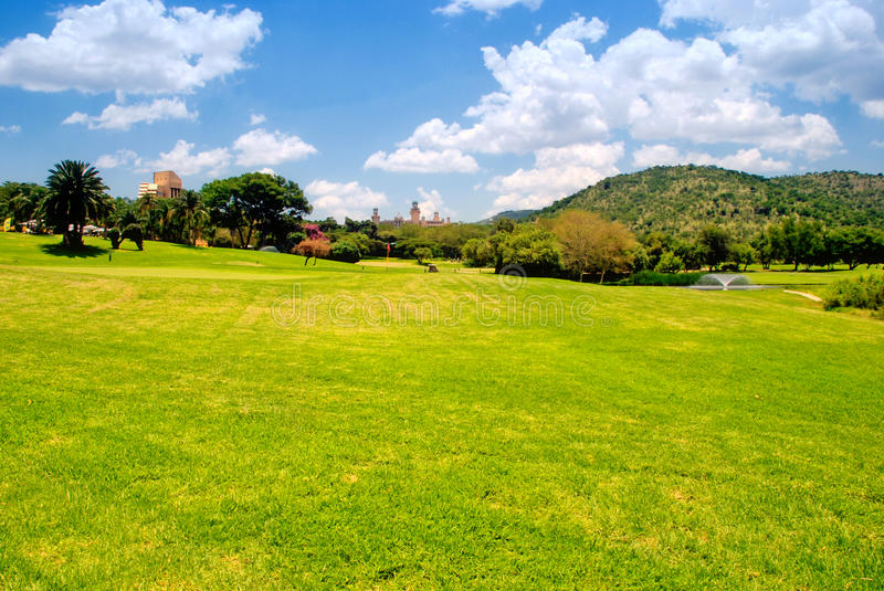 Golf field (South Africa) stock photo