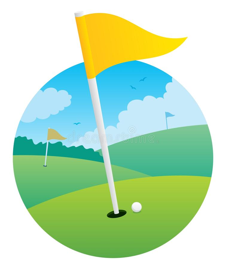 Golf Flag royalty free illustration