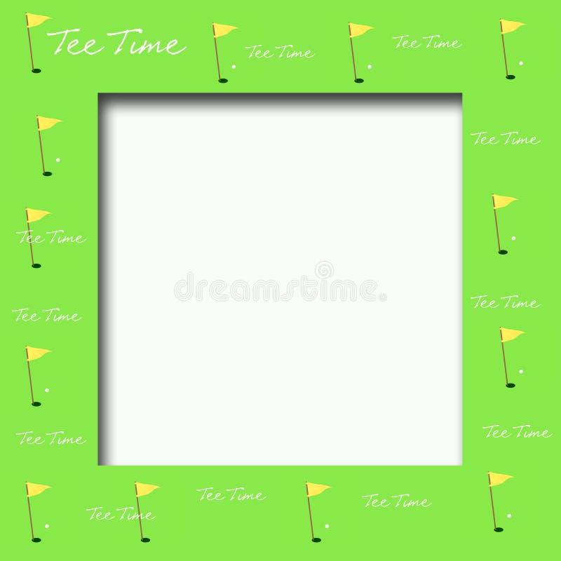 Golf flag frame stock illustration. Illustration of leisure - 12287846