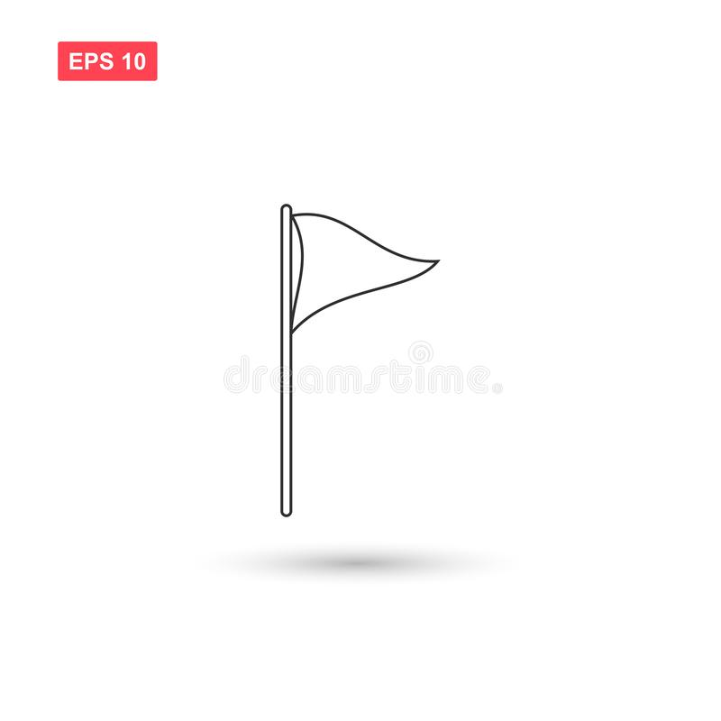 Golf flag icon vector isolated 4 vector illustration