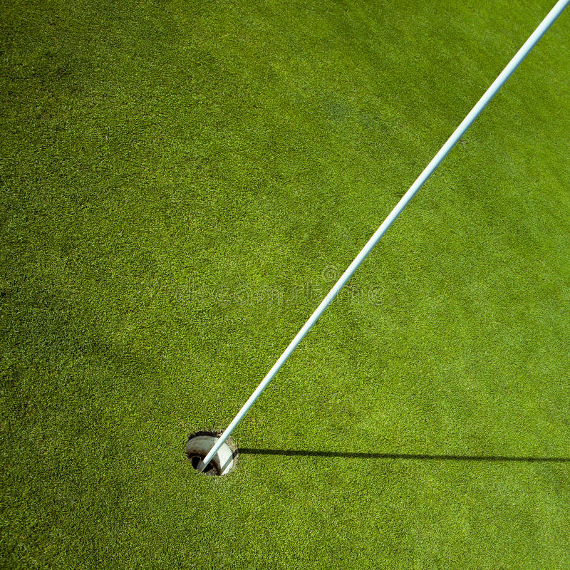 Free Golf Flag In Green Hole Stock Images - 48556904