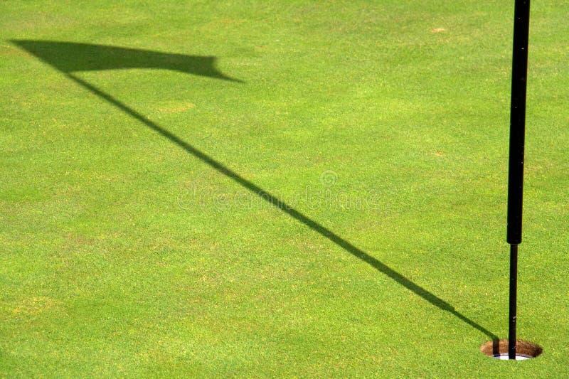 Golf flag shadow