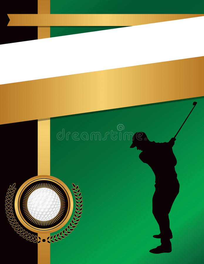 Golf Flyer Background Template Illustration Stock Vector
