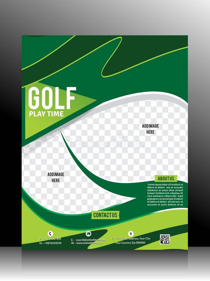 Golf Flyer Template. Vector illustation royalty free illustration