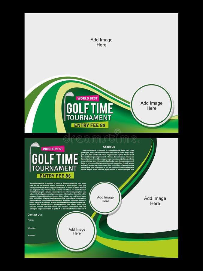 Golf Flyer Template. Vector illustration stock illustration