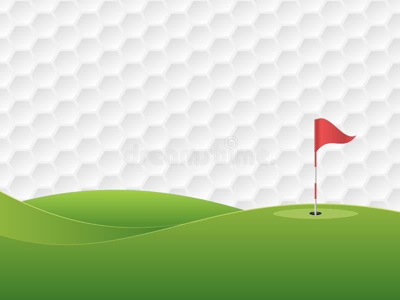 Golf 3 ilustración del vector