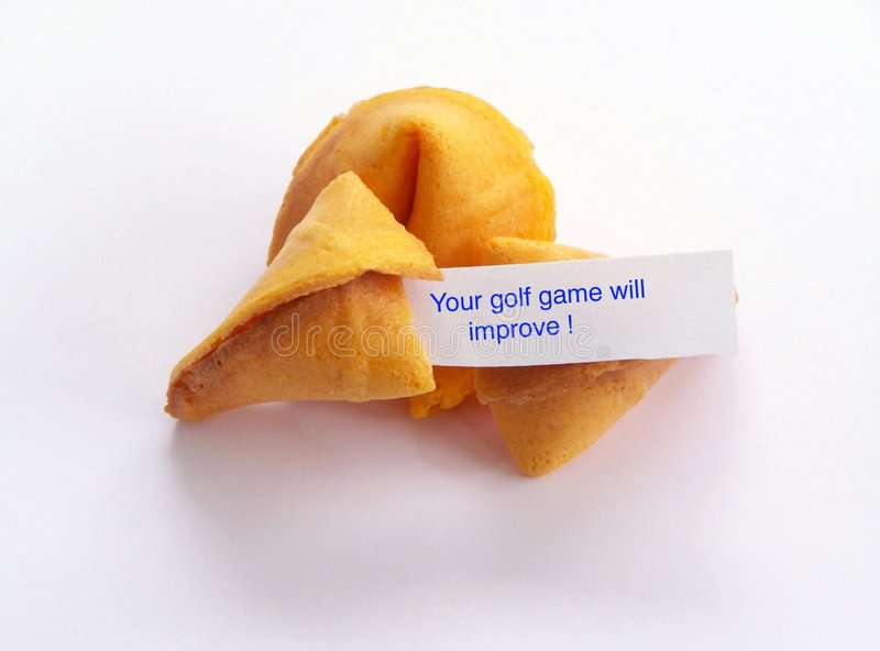 Golf fortune cookie. royalty free stock image