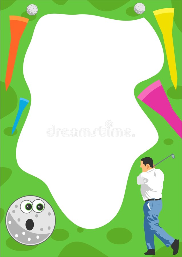 Golf Frame royalty free illustration