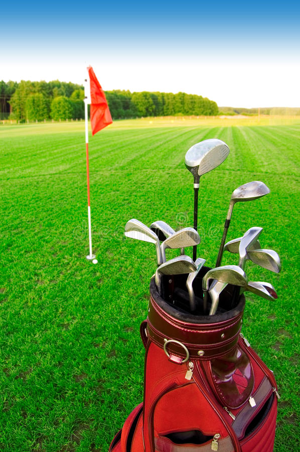 Golf game. stock photography