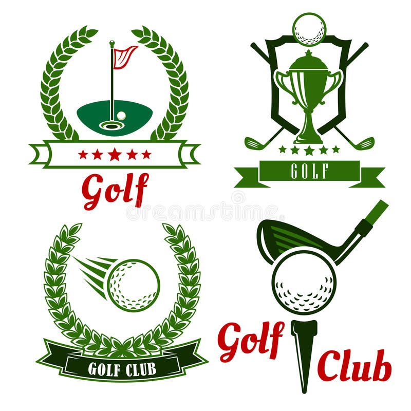 Free Golf Game Icons, Emblems And Symbols Royalty Free Stock Images - 57464519