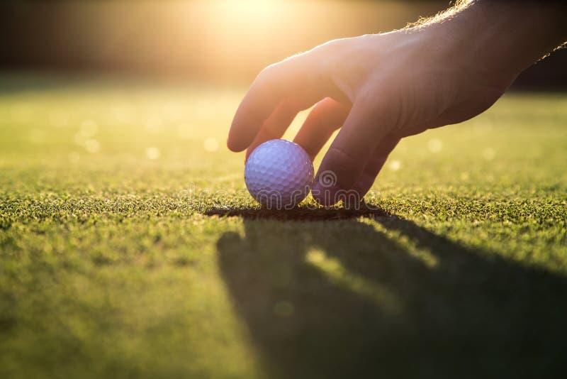 Golf gimme stockbild