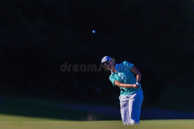 Download Golf Pro Girl Chip Ball Flight Editorial Stock Photo - Image: 26979253