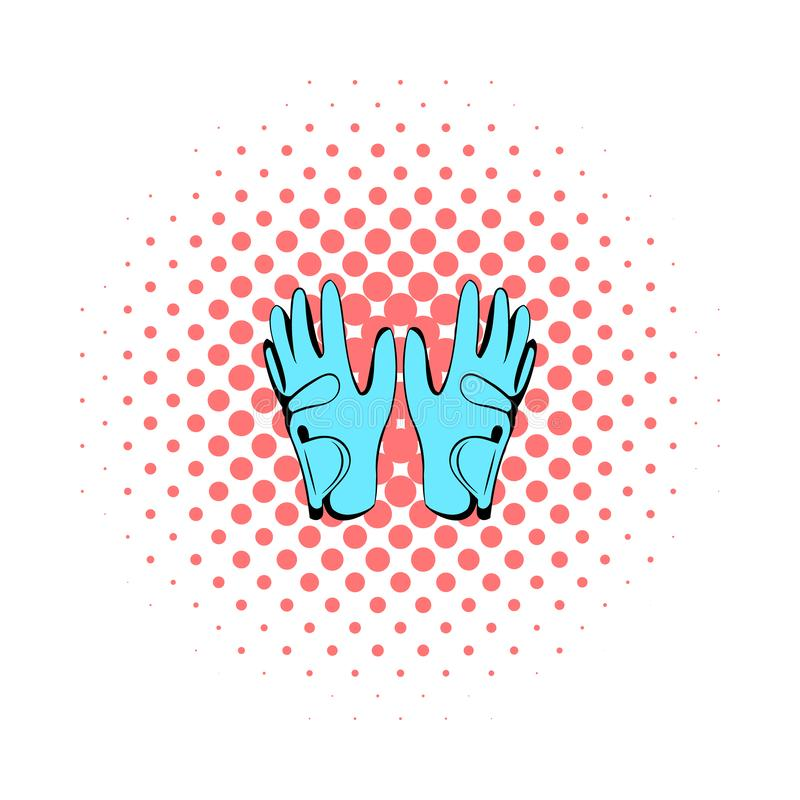 Golf glove icon, comics style. Golf glove icon in comics style on a white background vector illustration