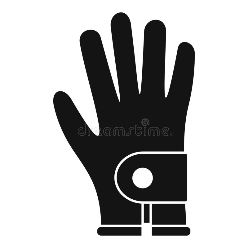 Golf glove icon, simple style. Golf glove icon. Simple illustration of golf glove vector icon for web design isolated on white background stock illustration