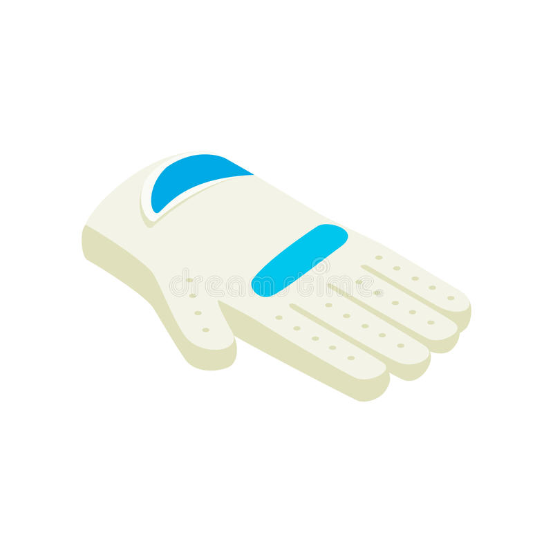 Golf glove isometric 3d icon. On a white background royalty free illustration