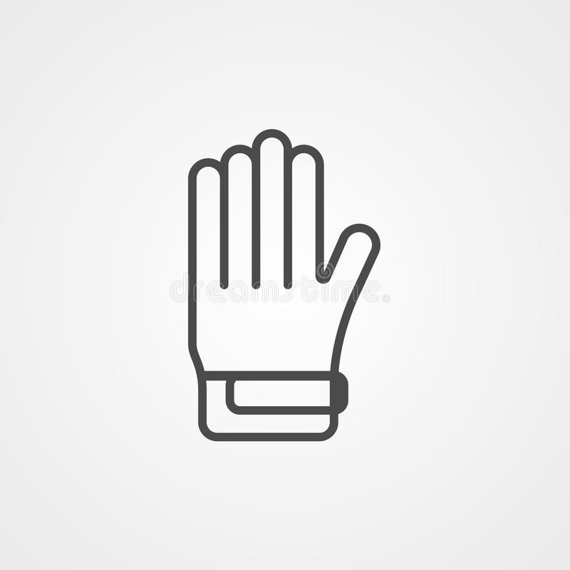 Golf glove vector icon sign symbol. Icon vector, filled flat sign, solid pictogram isolated on white. Symbol, logo illustration stock illustration