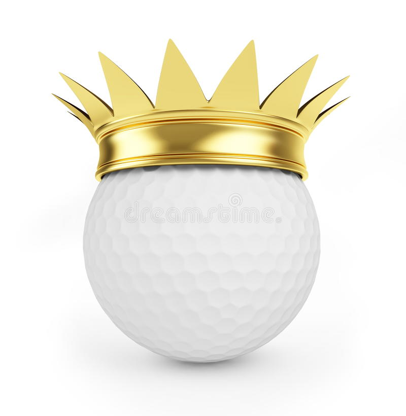 Golf Gold Crown Royalty Free Stock Photo