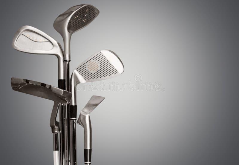 Golf. Club equipment hobbies sport man made object iron stock images