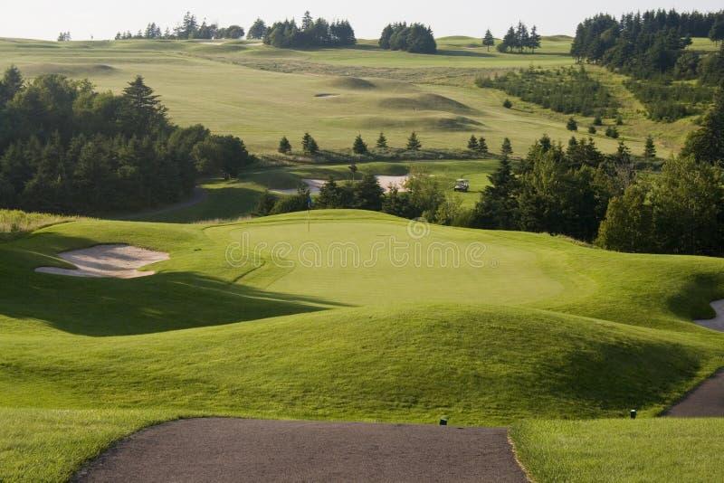 Golf-Grün lizenzfreie stockfotografie