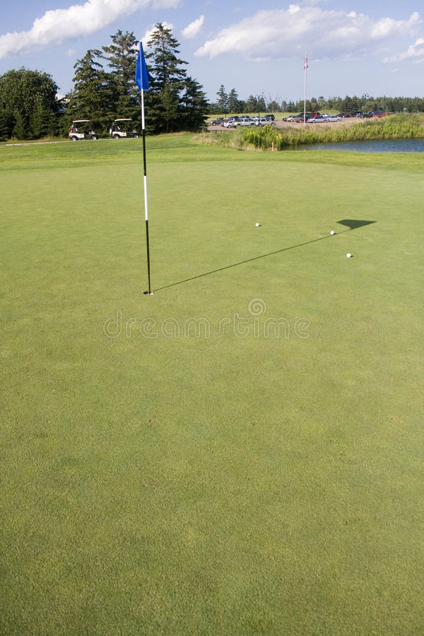 Golf-Grün lizenzfreies stockbild