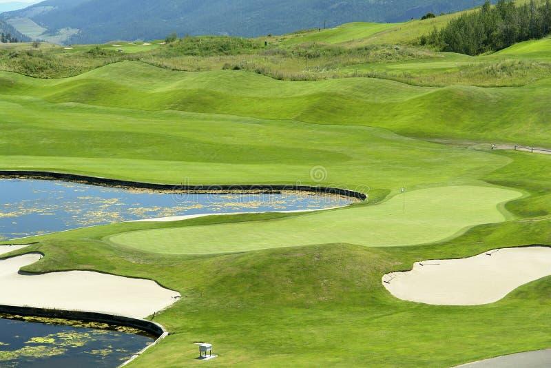 Golf-Grün lizenzfreies stockfoto