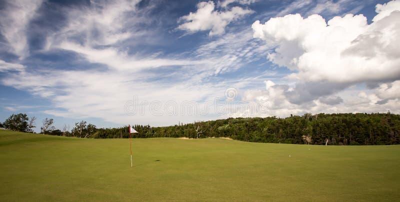 Golf-Grün stockfotos