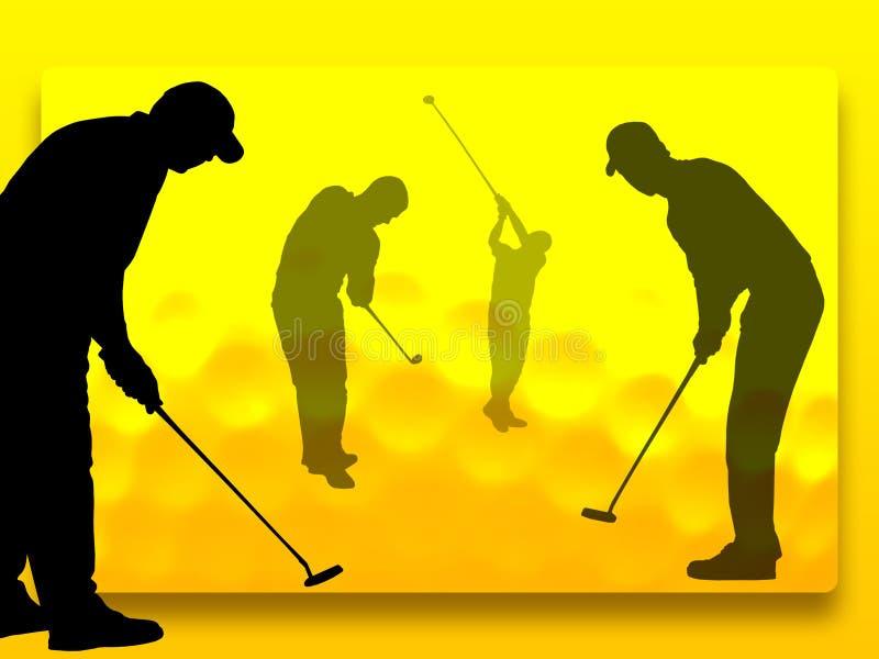 golf gracza royalty ilustracja
