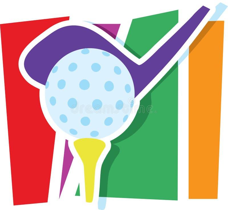 Golf-Grafik stock abbildung