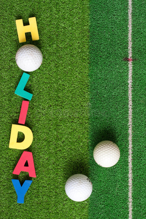 Golf on green royalty free stock image