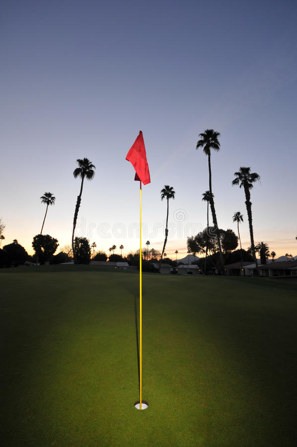 Download Golf Green With Pin, Flag And Fairway Stock Photo - Image: 22667076
