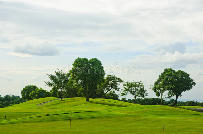 Golf Greens. A beautiful golf course in the Philippines stock photos