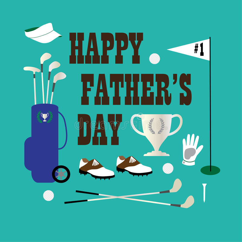 Golf happy fathers day stock illustration