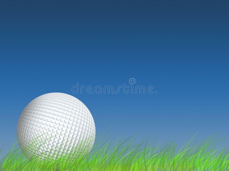 Golf, herbe, fond, prise de masse, projectile, scène, bille, bille de golf illustration stock