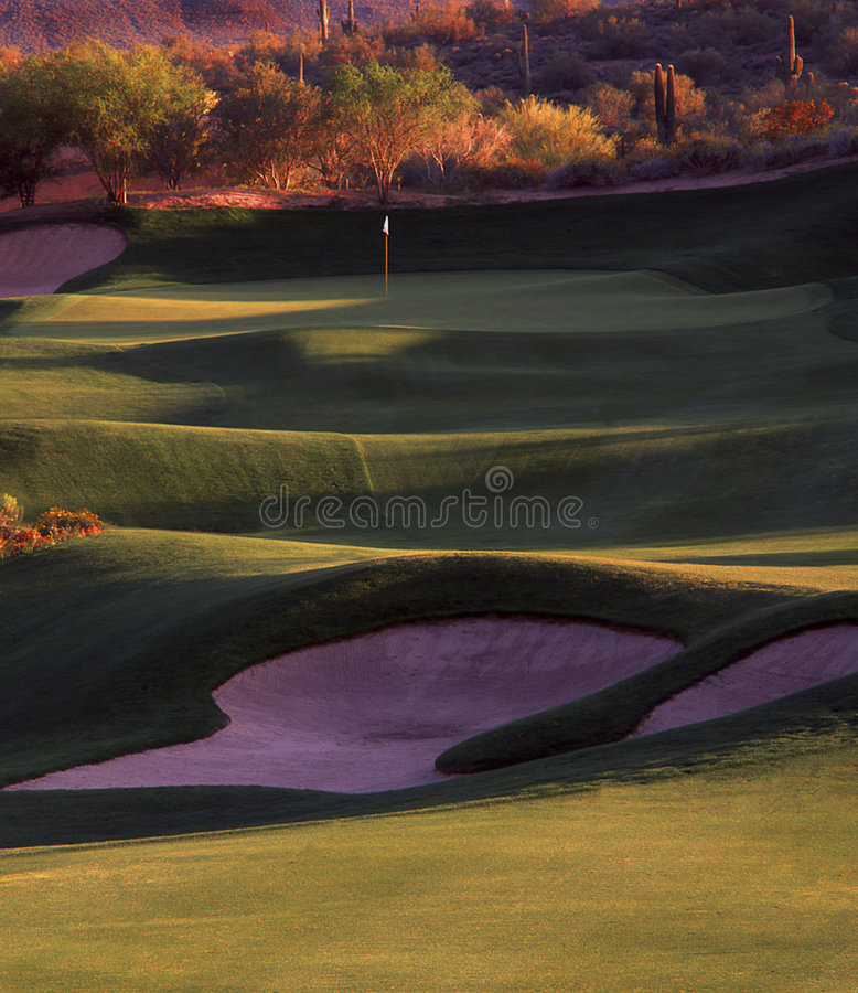 Golf hole royalty free stock photography