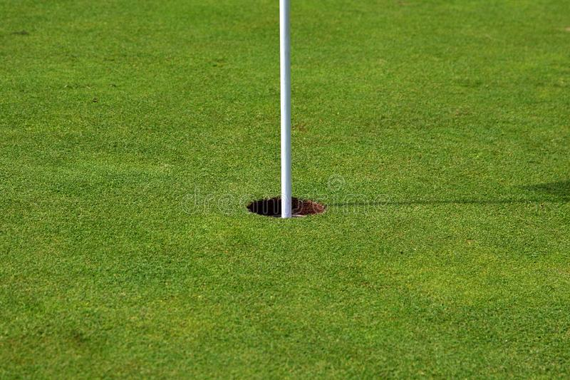 Golf Hole (center) royalty free stock photography