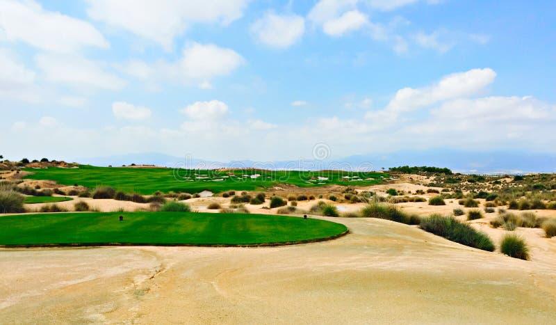 Overlooking Condado de Alhama golf hole designed by Jack Nicklaus stock images