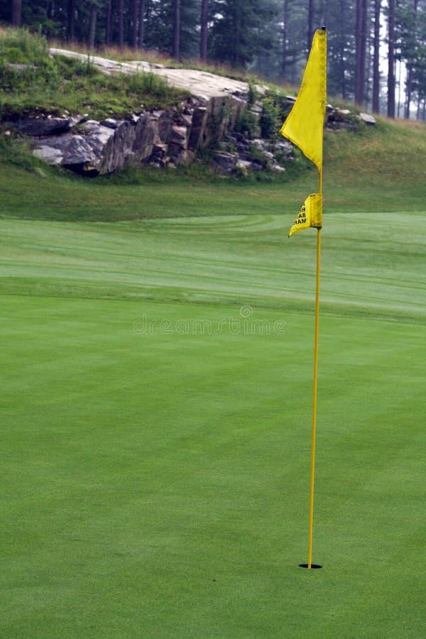 Golf Hole Flag Stock Photography