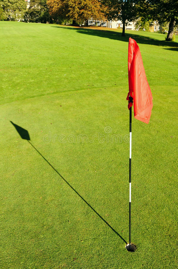 Golf Hole On A Putting Green Royalty Free Stock Photos