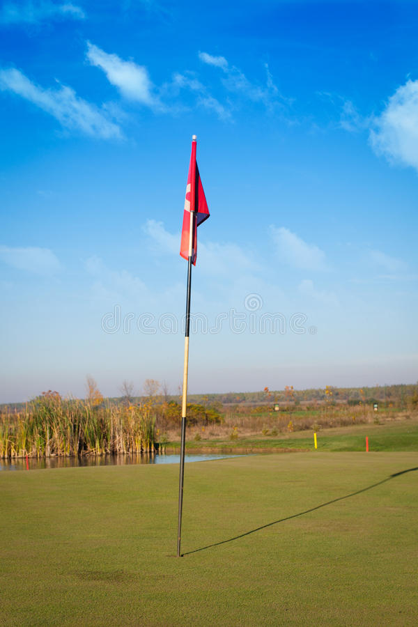 Golf Hole On A Putting Green Stock Photo