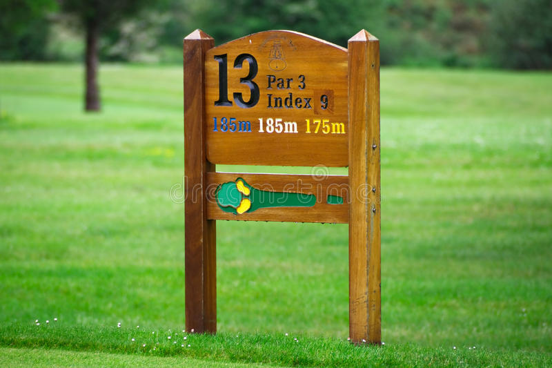 Download Golf hole sign stock image. Image of green, ireland, image - 18549781