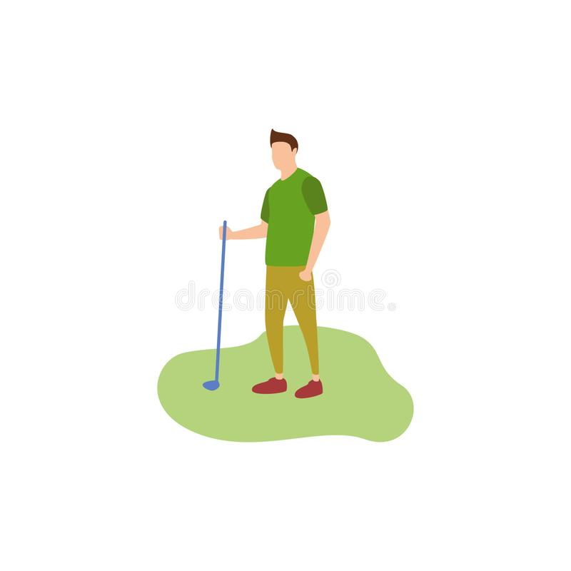 Golf humain de passe-temps illustration libre de droits