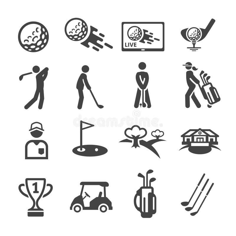 golf icon set stock illustration
