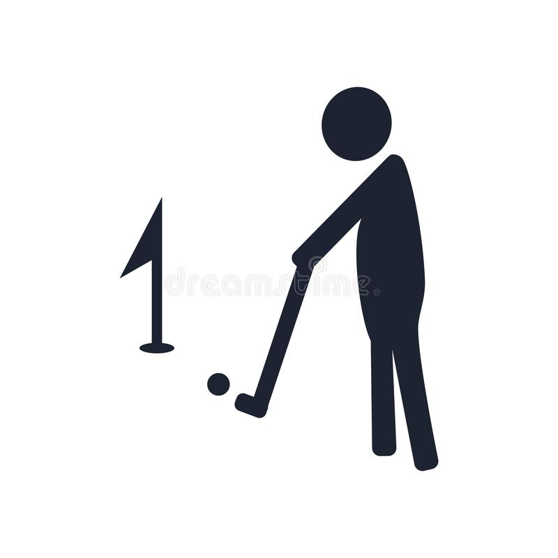 Golf icon vector sign and symbol isolated on white background, G royalty free illustration
