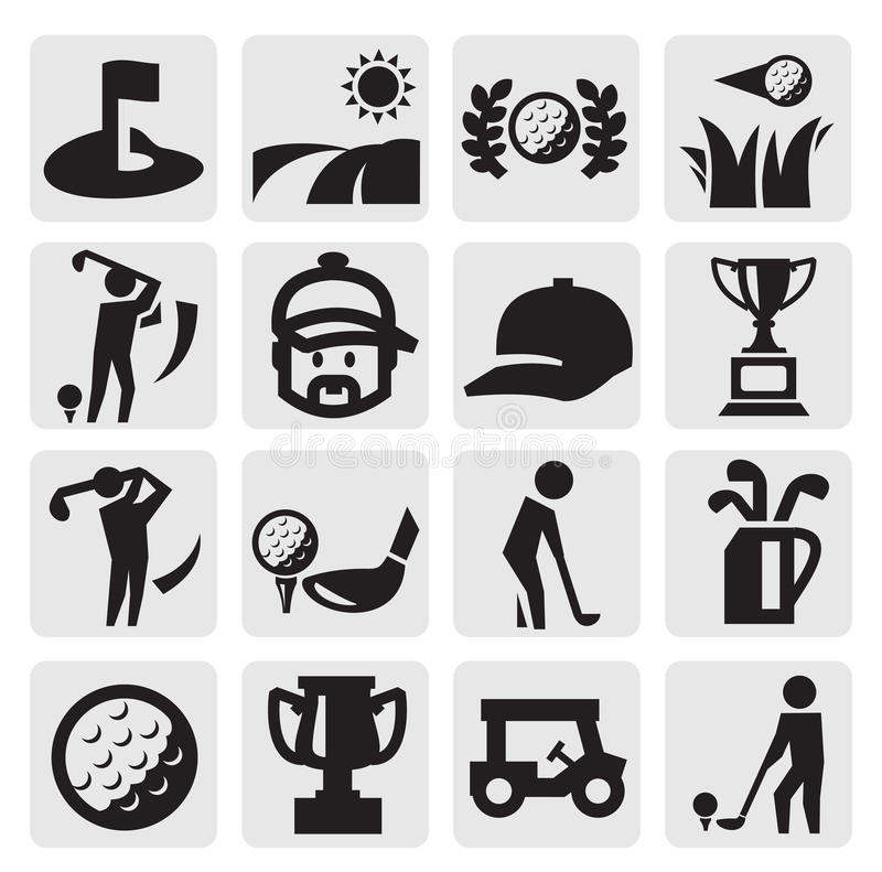 Golf Icons vector illustration