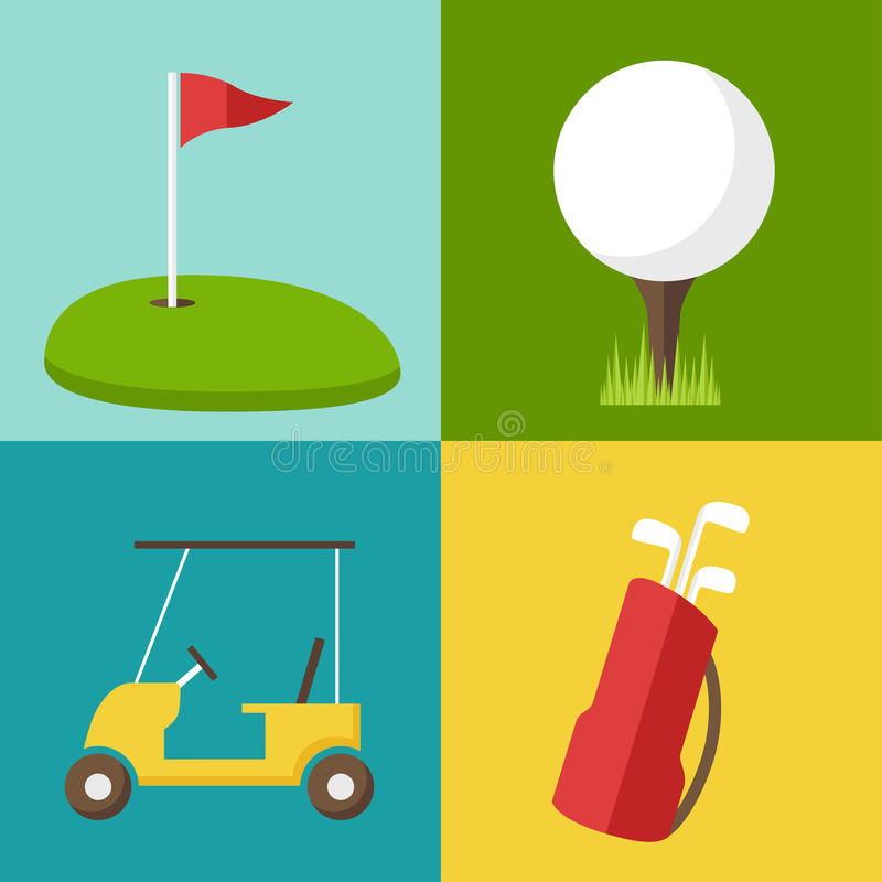 Golf icons vector illustration