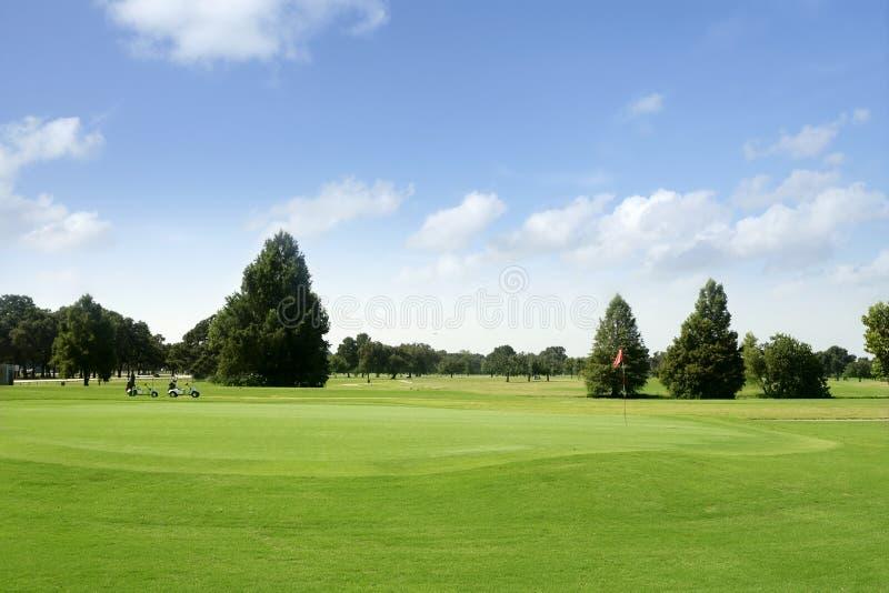 golf il paesaggio il Texas di verde di erba fotografia stock libera da diritti