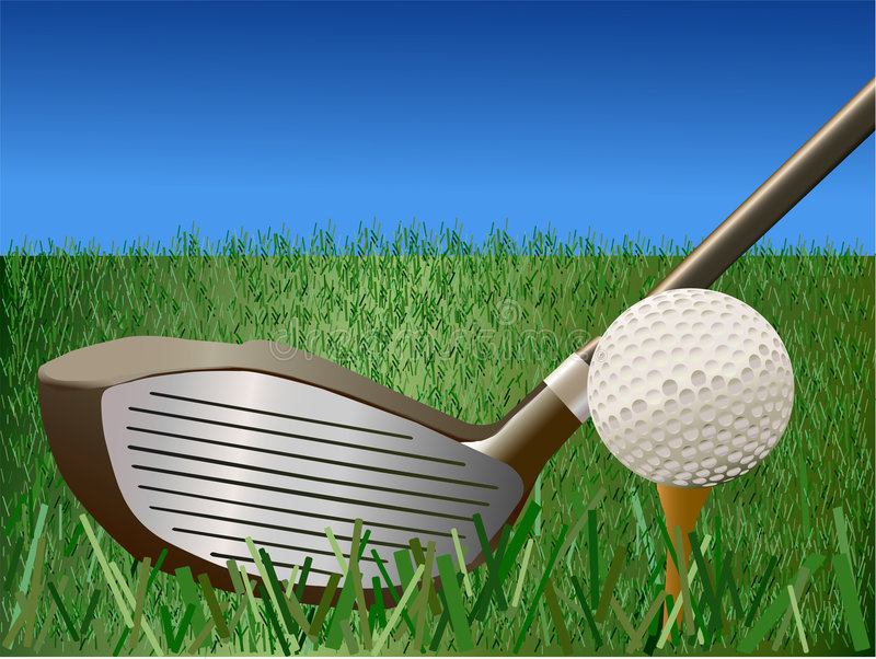 Golf - illustrazione di vettore illustrazione di stock