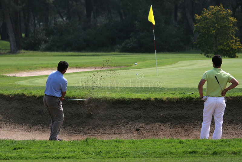 Golf im riva dei tessali stockbilder